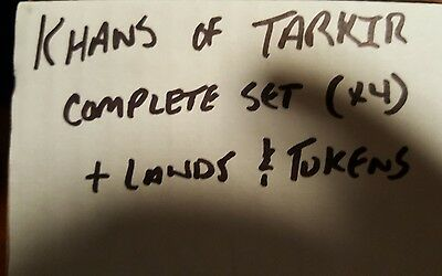 4x Khans of Tarkir complete set x4 plus lands and tokens Magic the Gathering