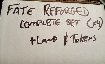 4x Fate Reforged complete set x4 plus lands and tokens Magic the Gathering