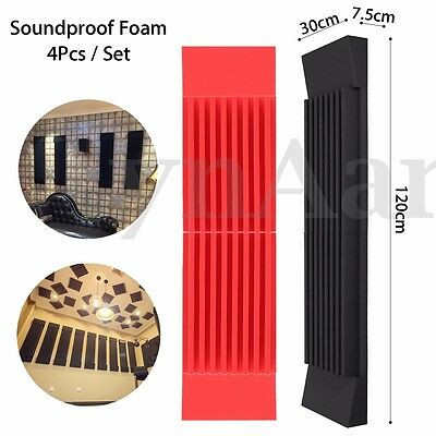 Studio Acoustic Foam Sound Proofing Absorption Treatment Wedge Sponge Panel Tile