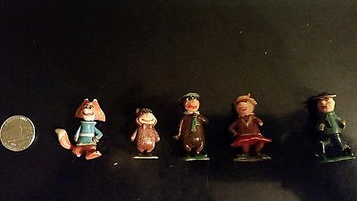 Vintage! 1961 Marx Tinykins - Hanna Barbera Lot Of 5 Yogi Bear Toy Figures