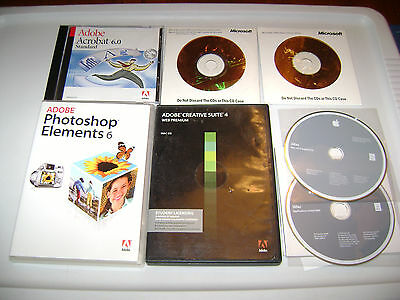 Nice condition lot of 2000's / vintage software (Windows, Office, etc.)