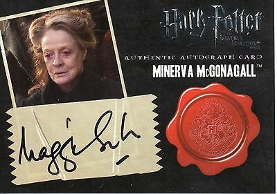 Artbox HARRY POTTER Deathly Hollow Pt 2 - Dame Maggie Smith - Autograph Card