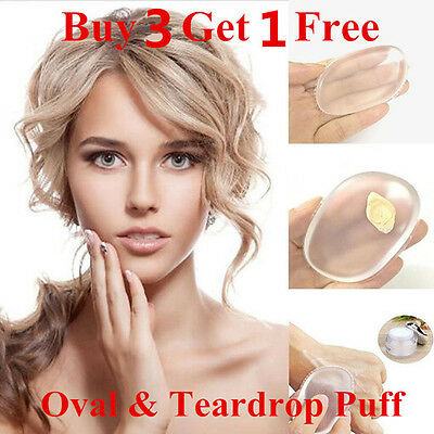 Silicone Sponge Puff Beauty Blender Makeup Foundation Applicator Buy 3 Get 1Free