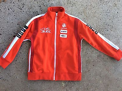 JACKET  HOLDEN RACING TEAM size 12 FULL LENGTH ZIP to small polo neck EMBROIDERE