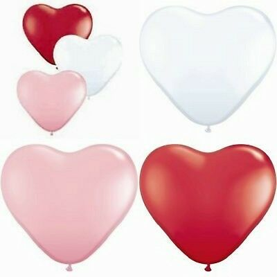 Heart Balloons 100 x 6 inch Red Pink White Engagement Wedding Decorations
