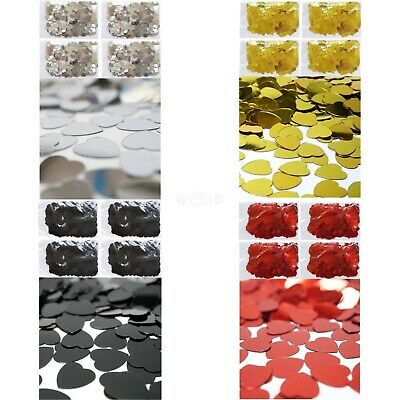 Heart Table Party Scatters Confetti 100grams Foil Wedding Decorations