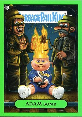 "Garbage Pail Kids Flashback Series 3 Green Adam Mania Chase Card #8 ""Fire"""