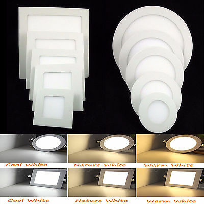 Dimmable Recessed LED Panel Light 9W 12W 15W 18W 21W Ceiling Downlight Bulb US