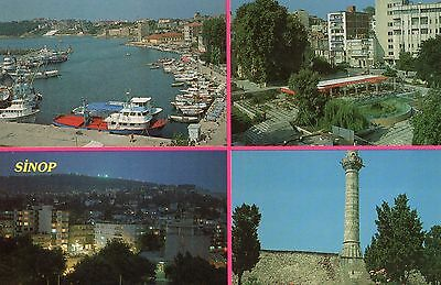 Postcard - Sinop, Turkey - Four Views - Unposted