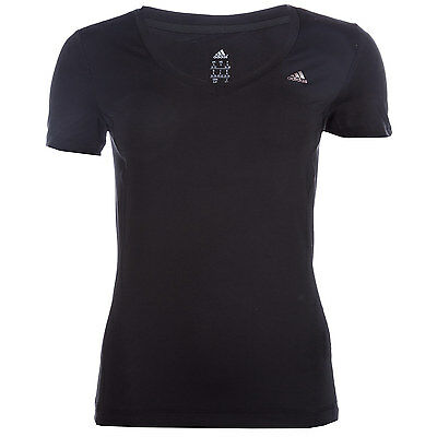 Womens adidas Womens Clima Essential T-Shirt in Black - 12-14 From Get The Label