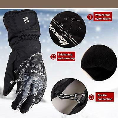 Durable -30 Degree Unisex Warm Snowboard Gloves Winter Snow Windproof Ski Gloves