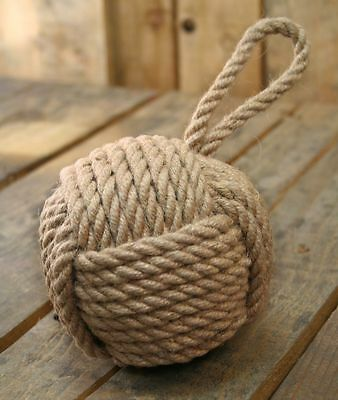 12Cm Natural Nautical Rope Doorstop ~ Small Rope Door Stop