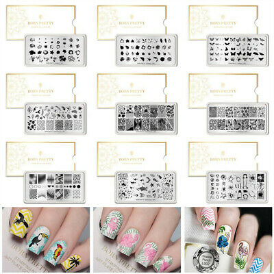 51 Patterns Nail Art Stamping Template Image Plates DIY Manicure Born Pretty