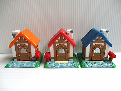 Animal Crossing Figure Red Blue Orange House set NINTENDO combine save ship cost