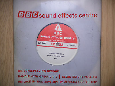 """BBC Sound Effects 7"""" Record - Volcanic Forces, Lava Roar, Eruption, Volcano"""
