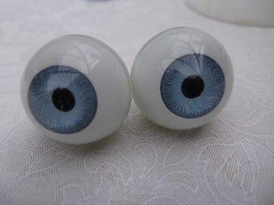 ROUND ACRYLIC DOLL EYES IN BLUE VARIOUS SIZES  8 mm - 30 mm