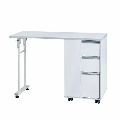 Urbanity Compact Foldable Folding Nail Station Salon Manicure Table Desk White