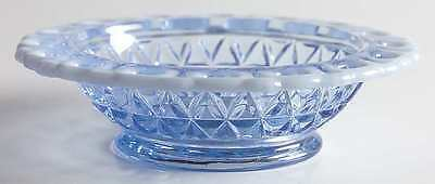 Imperial Glass Ohio LACED EDGE BLUE OPALESCENT (KATY) Fruit Dessert Bowl 3639624