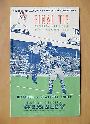 1951 FA Cup Final BLACKPOOL v NEWCASTLE UNITED *VG Condition Football Programme*