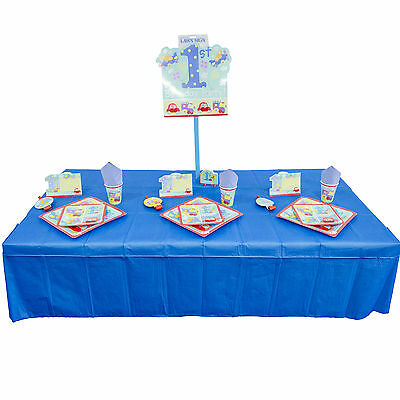 1st Birthday Boy Blue Party Tableware Decoration Value Pack Kit For 8 16 Guests