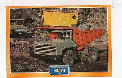 BelAZ 540   1969                Glossy   Picture (T483)