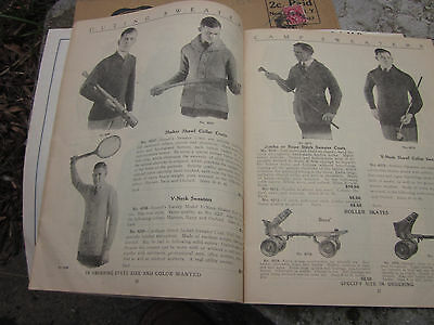 Vintage 1922 Sporting Goods Mens Clothing Army Navy Store Catalog Beach Jacket