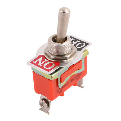 AC 250V 15A ON/OFF 2 Position SPDT Latching Toggle Switch Orange