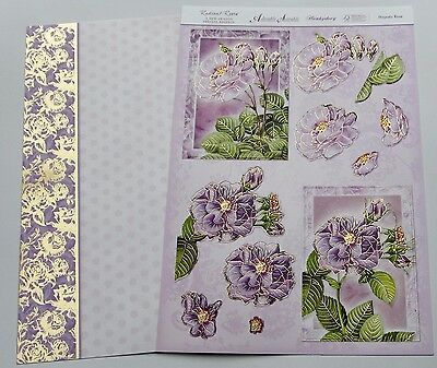 Hunkydory Radiant Roses Foiled & Die Cut Toppers & Card Kit