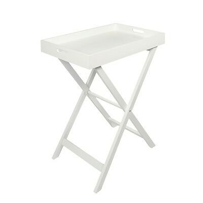 Woodluv Portable Table Dinner Serving Butler Tray Side Table