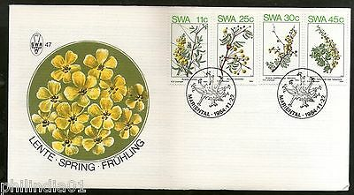 South West Africa 1984 Spring Flowers Plant Tree Flora Sc 532-35 FDC # 16049