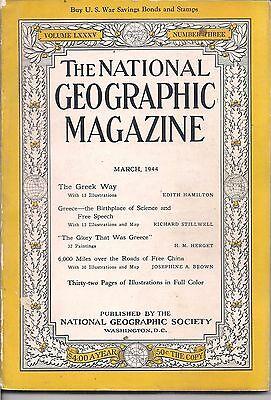 national geographic-MAR 1944-6,000 MILES OVER THE ROADS OF FREE CHINA.