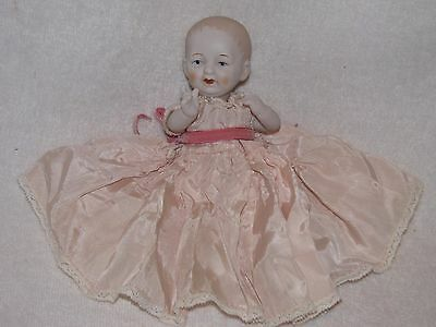 """Cute 6"""" Porcelain Baby Doll By Shackman Co."""