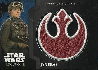 Star Wars Rogue One Mission Briefing Commemorative Patch Card MP-1 Jyn Erso Star Wars Niet-sportkaarten
