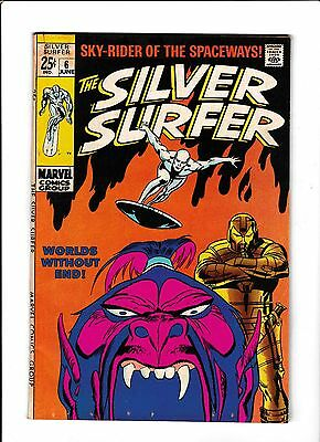 """Silver Surfer #6  [1969 Vg+]  """"worlds Without End!"""""""