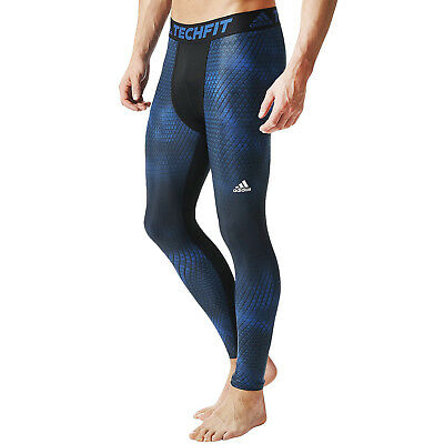 adidas Performance Mens Running Gym Techfit Chill Graphic Long Tight Leggings