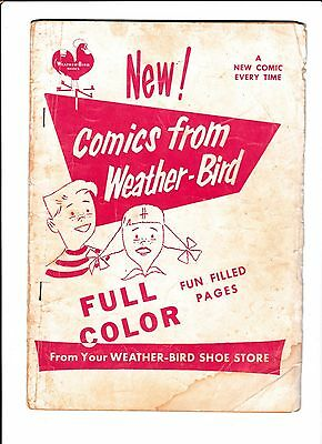 WEATHER-BIRD SHOES GIVEAWAY  [1950's GD]  BUZZY #56 INSIDE!