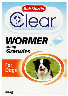 Bob Martin Dewormer Granules for Dogs 880mg Wormer FREEPOST