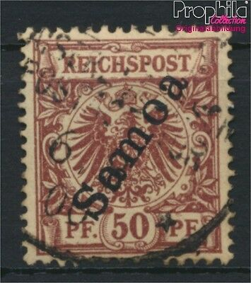 Samoa, German Colony 6 fine used / cancelled 1900 Imperial Yacht (8984471
