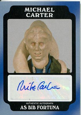 Star Wars Rogue One Mission Briefing Black Autograph Card Carter as Bib Fortuna