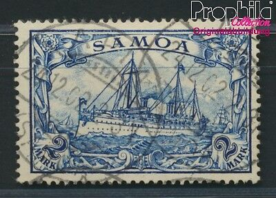 Samoa, German Colony 17 proofed used 1900 Imperial Yacht Hohenzollern (8984463