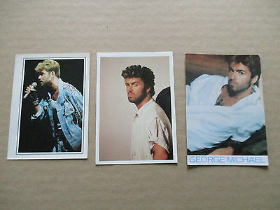 LOT 3 (2 CP+1 PHOTO) CPM Cpsm v1980 musique music GEORGES MICHAEL  tbe