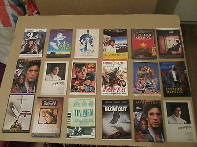 CINEMA MOVIE LOT 18 DIFFERENT CPSM CP postcard 1980 affiche FILM ciné BE nugeron