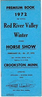 1972 Red River Valley 10th Annual Horse Show Program Crookston Minnesota meac12