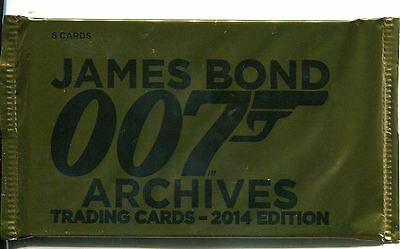 James Bond Archives 2014 Factory Sealed Hobby Packet Pack