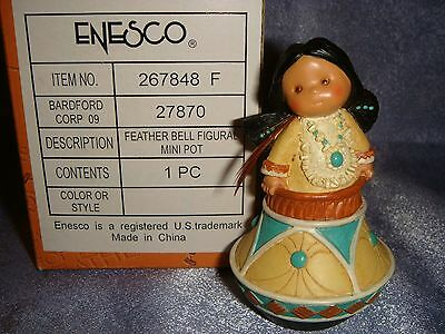Friends of the Feather - 267848F -MIB- FEATHER BELL - Indian Girl in Clay Pot