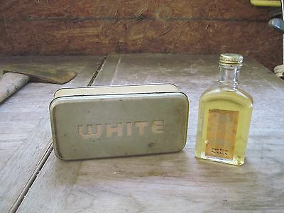 WHITE Sewing Machine Full Bottle of Oil +Empty Access.Tin..Sold New Market, VA