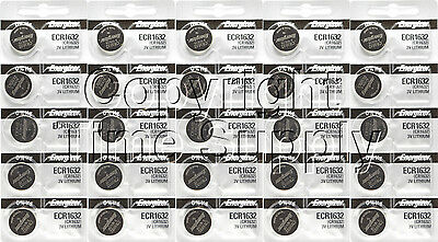 25 pc 1632 Energizer Watch Batteries CR1632 CR 1632  Lithium Battery 0%HG