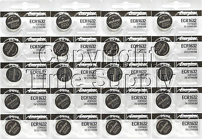 20 pc 1632 Energizer Watch Batteries CR1632 CR 1632  Lithium Battery 0%HG