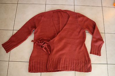 pull grossesse rose fuschia cache coeur manches longues T38/40