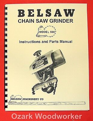 BELSAW Foley 550 Saw Chain Grinder Operator & Parts Manual 0778
